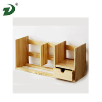 3-Shelf wood bookcase wood shelf wood box