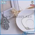 nova 2014 turco original design simples hamsa pulseira e colar define atacado