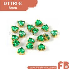 Elegant 8mm triangle crystal rhinestone shoe ornaments for women shoes