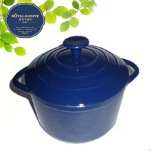 Porcelain coated cast iron cookware