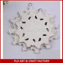 Christmas Tree Ornaments /Ceramic snowflake/snowflake alibaba manufacture