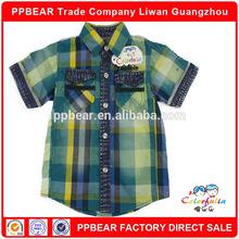 PPbear new pattern check shirt for male kids popular fashion