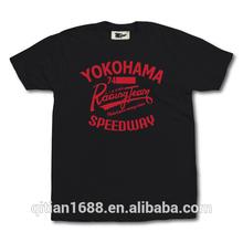 hot sales Mens 100%cotton black t-shirt