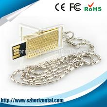 Free samples 4GB metal necklace usb memory stick, Alibaba express usb memory