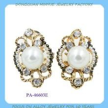 Elegant stud pearl earring for ladies supplier