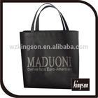 black printed non-woven shopping bag