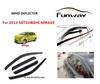 Deluxe door visor window deflectors rain visor car accesories for 2014 MITSUBISHI MIRAGE