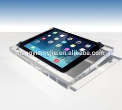 Heavy duty high quality clear acrylic case for ipad