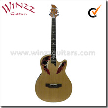 """Winzz 38"""" image de plástico alrededor de la espalda de la guitarra eléctrica con eq( afo831ce)"""