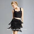 hot sale latest design factory price elegant tassels ladies short skirt models