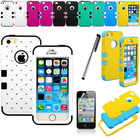 "2014 fashion 2 IN 1 silicone+PC Hybrid Rugged Rubber Bling Crystal Hard Case Cover for iPhone 6 Plus 5.5"" phone case"