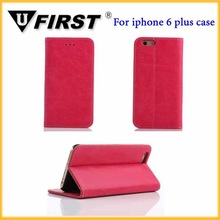 Simple hot design pu leather flip case for iphone 6 5.5inch