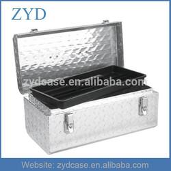 Diamond Plate Tool Case Water-Resistant Aluminium Metal Instrument Case ZYD-HZMsc010