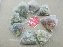 Herbal Beautiful Flower Tea Slimming Loose Leaf Tea Nylon Tea Bags With Private Label