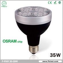 OSRAM chip Hight power led par30, Par30 35W led spotlight,led par30 long neck