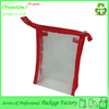 Fashion transparent recycled zip lock clear vinyl travel cosmetic bag