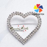 Factory Wholesale Shining Cheap Peach Diamond Buckle for Decor.