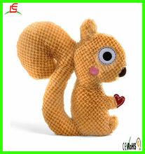 LE C1531 mini squirrel toy plush knit squirrel for child