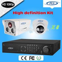 Alta definición 8 canales HD-SDI estándar Kit de seguridad de vídeo, 1080 P de la cámara con 1/3 CMOS Sensor de imagen, 8CH DVR