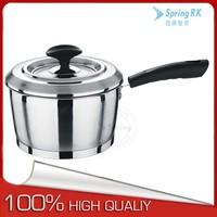Capsule/Double bottom SS sauce pan with long bakelite handle