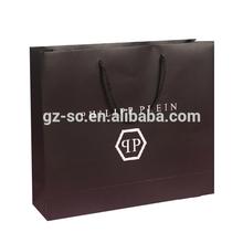 luxury customized paper large black shopping bag