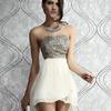 W7048 new design chiffon elegant train sequins plus size evening dress