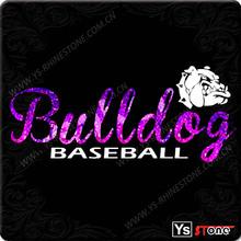 High quality cheap custom printed baseball rhinestone t shirt