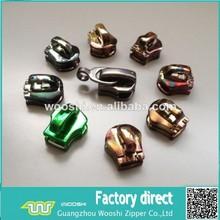 non lock zipper Slider,zipper heads,colorful metal slider zipper head lock