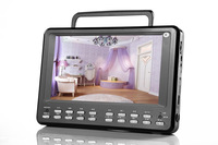 9 inch 12V portable solar radio with usb sd and dvd player