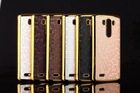 Football lines gold bling bling metal phone cover case for LG G3