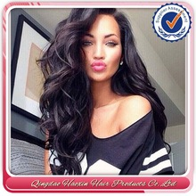 Beauty Women Love Body Wave Brazilian Human Hair Silk Top Full Lace Parts Wig
