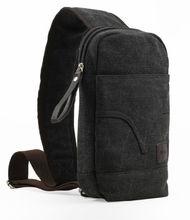 mens 100% cotton canvas chest bags wholesale canvas bags canvas fabric sports bags