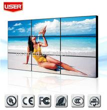 Ultra narrow bezel 5.5 mm 46/47/55 inch LCD wall advertising video
