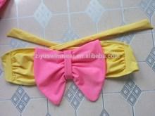 Strapless Bow China Girl Bikini Swimwear Photos
