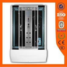 Pinghu low pice high tray rectangle steam bathroom shower room with bathtub AJL-8011-3 85x150x215cm