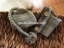 Baby Set Newborn Crochet Hat and Diaper Cover Set Photo Prop