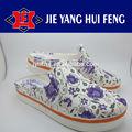 um sopro de ar jardim tamancos sapatos molde com tecido superior