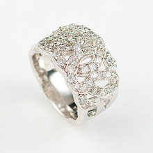 Fine jewelry micro pave setting 925 sterling silver ring jewelry