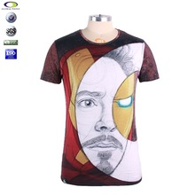Men High qulaity pretty popular cotton sublimation printing t-shirt