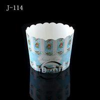 Medium blue sweet flower cake cup 50pcs per cube/ Disposable convenient paper cupcake/cute paper cup#J114