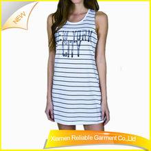 High quality gym sexy girl tank top printed stripe