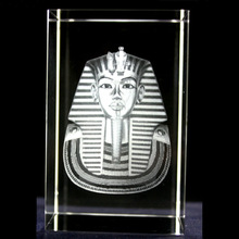 wholesale 3D laser k9 Crystal pharaoh for gifts