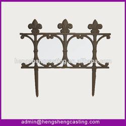 cast iron antique decorative garden fence