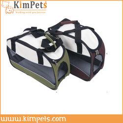 Large blue portable pet soft crate for dog travel carrier bag