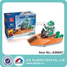 24PCS concrete block plastic row boat/steamboat toys