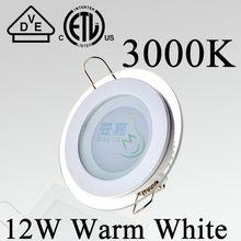 New glass edge SMD5730 Round Warm white 12W led panel light