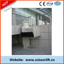 Vertical wheelchair lift/handicapped equipment