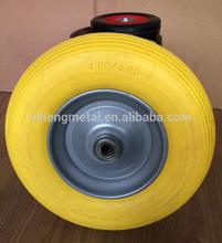 Flat free wheels PU/Pu filled wheels 4.80/4.00-8