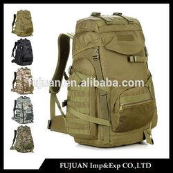 Wholesale large capacity jungle canvas hiking&military backpack
