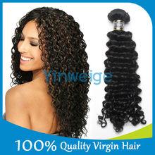 100% Remy human hair 5A deep wave indian hair industries